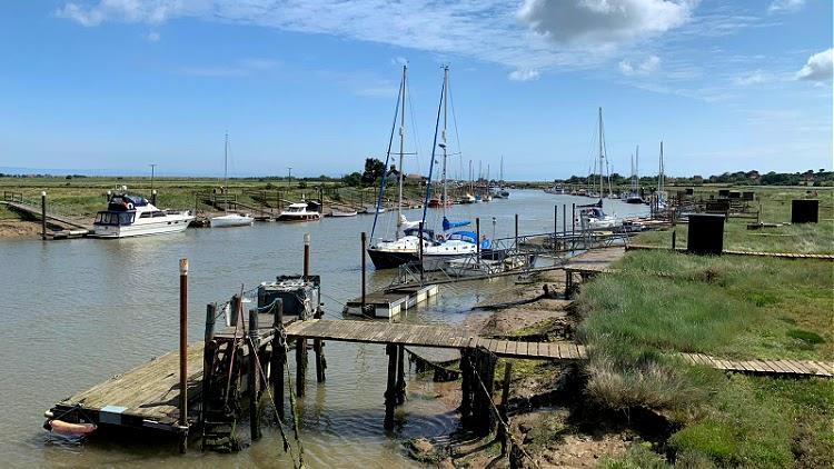 boats at morston quay 1