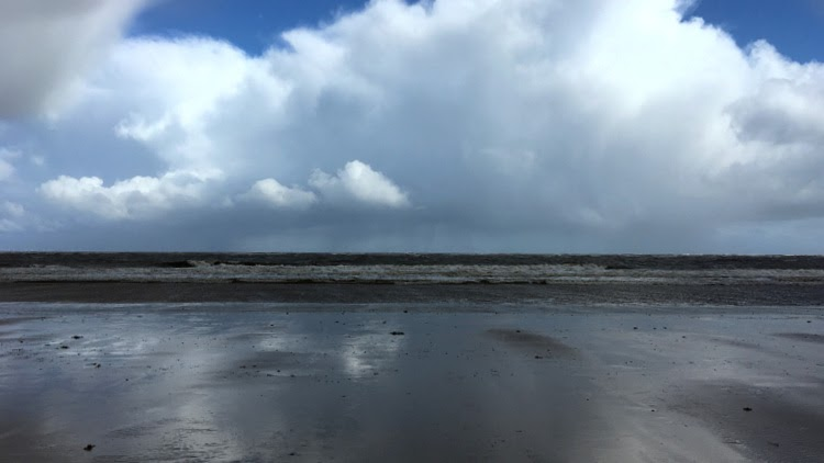 brancaster beach big skies vast beach in may 1
