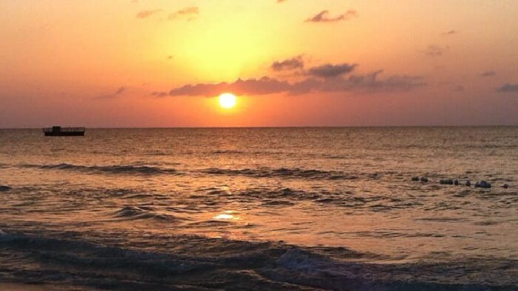 sunset, negril, jamaica